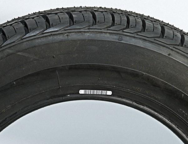 Vulcanized tyre label